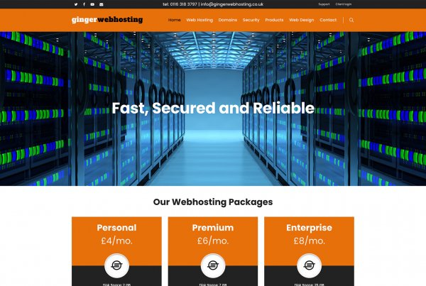 Leicester Web Project Ginger Web Hosting Home Page