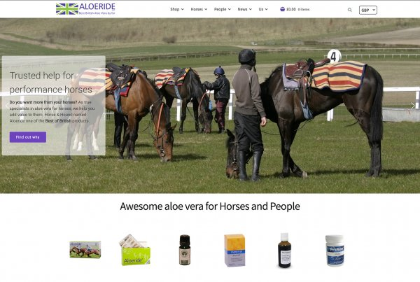 Leicesterweb - Aloeride - Organic Aloe Vera Supplements