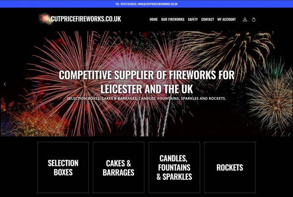 Leicester Web Project Cut Price Fireworks